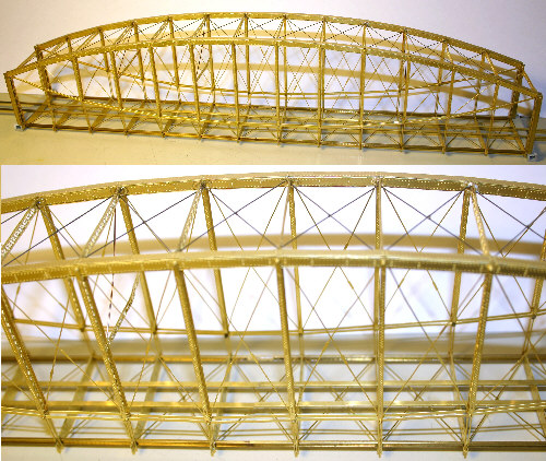 How To Wire A Light >> Etched Brass Lenticular Truss Bridge